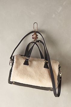 Plush Faux-Shearling Duffle #anthropologie This bag is so chic I can't even handle it. I want you so bad, but I do not have the money for you :'(