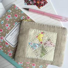 Pinwheel linen pouch.