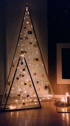 Modern Christmas Decor, Handmade Christmas Decorations, Easy Christmas Crafts, Simple Christmas, Diy Ornaments, Rustic Christmas, Christmas Ornaments, Holiday Decor, Driftwood Christmas Tree