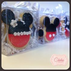 Mickey and Minnie Mouse Cookies by MegCookieCouture
