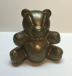 Brass bear vintage decor Collectable gift nursery bear brass by Bayleesncream on Etsy