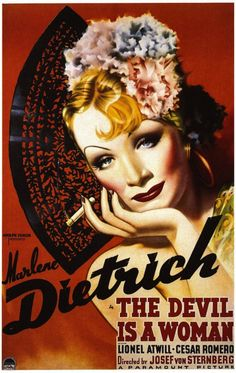 "The D-Toys Marlene Dietrich Vintage Poster Jigsaw Puzzle is perfect for any family bonding night. It features Marlene Dietrich in ""The Devil is a Woman"", vintage poster puzzle. Relive the romance of the 1935 film with this stunning cinema poster puzzle. Marlene Dietrich, Posters Vintage, Vintage Movies, Cyberpunk, Cinema Posters, Movie Posters, Women Poster, Woman Movie, Paramount Pictures"