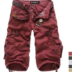 Stylish Casual Military Short - This looks like something my son would actually wear, comfortable and in a great color.