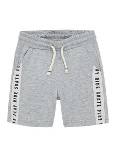 ZARA - Unisex - Flame shorts with herringbone band - Gray marl - 6 years inches) Boys Summer Outfits, Baby Boy Outfits, Cute Outfits, Sport Fashion, Kids Fashion, Night Gown Dress, Nickers, Short Niña, Denim Jeans Men