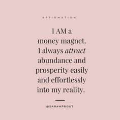 Obtain Wealth Happiness Love and Success - Are You Finding It Difficult Trying To Master The Law Of Attraction?Take this 30 second test and identify exactly what is holding you back from effectively applying the Law of Attraction in your life. Affirmations Positives, Wealth Affirmations, Morning Affirmations, Sarah Prout Affirmations, Career Affirmations, Motivational Affirmations, Manifestation Law Of Attraction, Law Of Attraction Affirmations, Law Of Attraction Quotes
