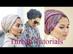 Style Hijab Simple Head Scarfs Ideas For 2019 Turban Outfit, Hijab Turban Style, Mode Turban, Hijab Chic, Turban Tutorial, Hijab Style Tutorial, Bad Hair, Hair Day, Doek Styles
