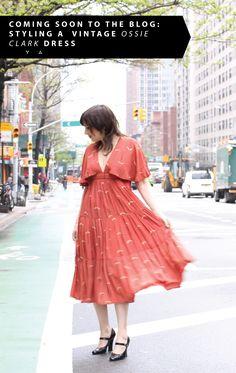 What Wendy Wore: orange Ossie Clark dress