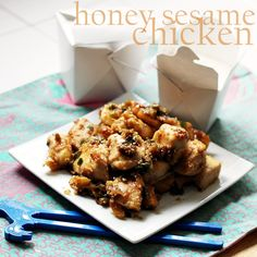 honey sesame chicken- looks delicious, easy, and relatively healthy