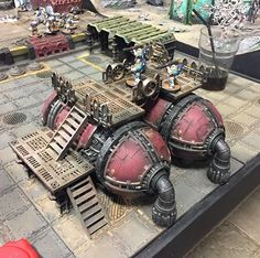 Some more new, great scenery spotted in Warhammer World. #warhammerworld #scenery #40k #warhammer40k #warhammer