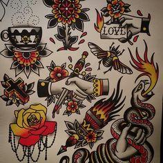 Tatuagem old school Brown Things brown color q es Pin Up Tattoos, Trendy Tattoos, Body Art Tattoos, Sleeve Tattoos, Tattoos For Guys, Traditional Tattoo Design, Traditional Tattoo Flash, Dessin Old School, Berg Tattoo