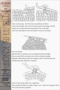 Needlecrafts,Knit, Crochet - Tie the Knot                    Image and knit tutorial    here   Image and crochet tutorial    here       ...