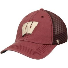 Buy Men s Brand Red Wisconsin Badgers Trailway Closer Flex Hat from the  official Wisconsin Badgers Athletics Store. UW Badgers fans buy Men s Brand  Red ... 97151e28af5