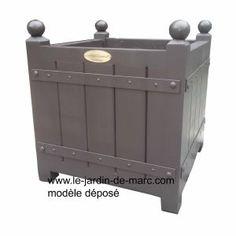 Caisse à oranger renfort acier & panneaux bois