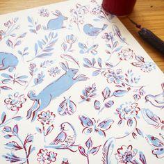 Finally got round to adding some ink to friday's drawing! #inktober #clatetherese #inktober2016 #penandink #creativelifehappylife #pattern #pursuepretty #printandpattern #doodling #printandpattern #dspattern #surfacepattern #creativityfound #bunnies #butterflies #floral #floralpattern #inkdrawing #flashesofdelight