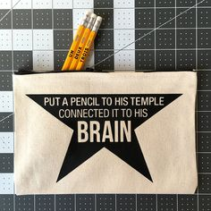 Want to write your first refrain? With this Hamilton Broadway Musical-themed pencil case you could grow up to be a hero and a scholar! Inspired by