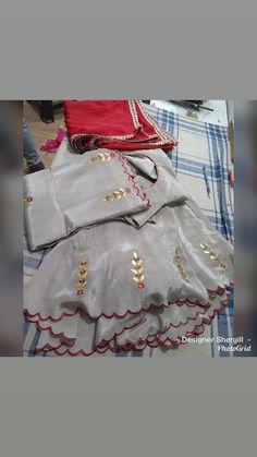 New embroidery dress fashion style ideas Punjabi Suits Party Wear, Party Wear Indian Dresses, Punjabi Salwar Suits, Indian Outfits, Patiala, Salwar Kameez, Wedding Dresses, Punjabi Suits Designer Boutique, Boutique Suits