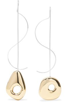 Leigh Miller | Hepworth Drop white bronze, gold-tone and silver earrings | NET-A-PORTER.COM