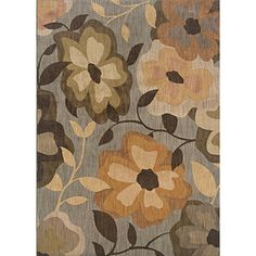 @Overstock - A beautiful large scale floral motif area rug, in a warm palette of gray, brown, orange, gold and beige. Featuring a durable yet soft nylon construction this beautiful rug will make a wonderful addition to any room.http://www.overstock.com/Home-Garden/Messina-Grey-Gold-Transitional-Area-Rug-310-x-55/6209727/product.html?CID=214117 $153.50
