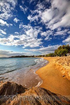 Sandy beach in Paros - Sandy beach of Logaras in Paros island, Cyclades, Greece.