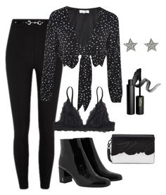 """""""Untitled #6"""" by ellenbogren on Polyvore featuring Monki, WYLDR, Yves Saint Laurent and INIKA"""