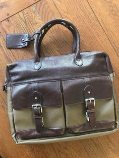 Polo Ralph Lauren professional briefcase Leather  amp  nylon. P O  fashion   063cd20b4121d