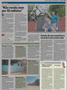 Entrevista de Guilherme Machado para o jornal A Tribuna (ES) no dia 02/12/2012. O conteúdo está nas página 38 e 39.
