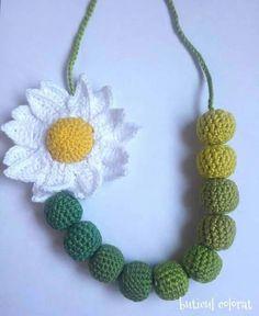 33 Besten Ketten Gestrickt Bilder Auf Pinterest Crochet Necklace