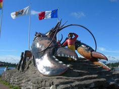 https://flic.kr/p/8ojE7K | World's Largest Lobster | Shediac, New Brunswick  Historic marker: www.flickr.com/photos/auvet/4847100535/