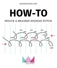 The Soumak Stitch 2019 Tutorial to add soumak stitches to weavings. The Soumak Stitch is a relatively simple stitch that once mastered can provide beautiful complex looking designs. The post The Soumak Stitch 2019 appeared first on Weaving ideas. Weaving Loom Diy, Weaving Art, Wire Weaving, Weaving Patterns, Hand Weaving, Stitch Patterns, Knitting Patterns, Tapestry Loom, Weaving Wall Hanging