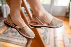 Boho Bunnie wearing our happy Sandals in Taupe.  Available at The Avarca Store