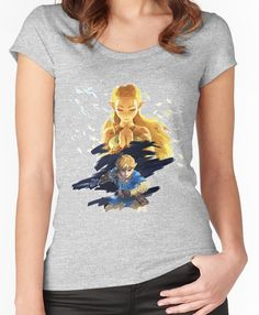 a2894ee0 The Legend of Zelda: Breath of the Wild Women's Fitted Scoop T-Shirt Legend