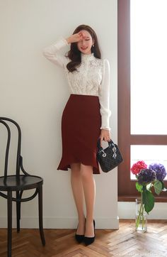 Korean Fashion Trends you can Steal – Designer Fashion Tips Wedding Attire For Women, Work Attire Women, Corporate Attire Women, Corporate Wear, Workwear Fashion, Work Fashion, Fashion Outfits, Fashion Blogs, Fashion Fashion