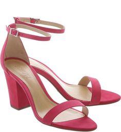 Sandália Midi-Heel Single Rose Pink