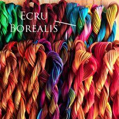 Ecru borealis, Handmade silk Shibori ribbon