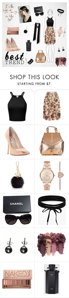 """Emelia Feathered"" by suljic-melika ❤ liked on Polyvore featuring H&M, Mother of Pearl, Dune, Furla, Michael Kors, Chanel, Boohoo, Black, Urban Decay and Gucci"