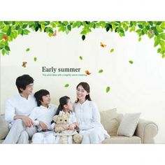 Decal Dzine Early Summer Green Leaves