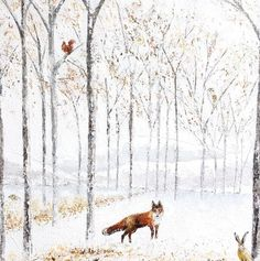 Sarah Pye, Red Fox In The Woods