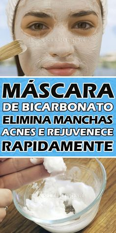 Máscara de bicarbonato de sódio; elimina manchas do rosto, acne e rejuvenesce e repara a pele  #mascaracaseira #mascaradebicarbonato #mascaraparatirarmanchas #mascaradebicarbonatodesodio #mascaraquerejuvenece #mascaradebicarbonatoparaorosto #mascarareceita #mascaradebicarbonatoreceita #mascaraparatiraracne #mascaraparareparaapele #mascaraquelimpaorosto #comolimparapele #comolimparorosto #comorejuvenecerapele #produtoparalimparapele #tuasaude #minhavida #dicasdesaude #bemestar