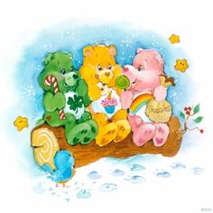 Bear Cartoon, Cartoon Art, Cartoon Characters, Care Bear Tattoos, Care Bears Vintage, Care Bear Party, Morning Cartoon, Rainbow Brite, Vintage Cartoon