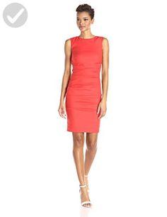Nicole Miller Women's Lauren Stretch Linen Dress, Mandarin, 6 - All about women (*Amazon Partner-Link)