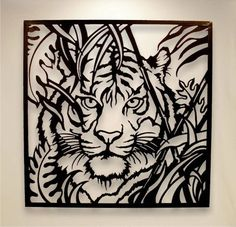 tiger wall art