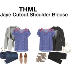 THML Jaye Cutout Shoulder Blouse via Stitch Fix