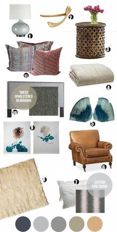 bedroom inspiration. shoppe pillows!