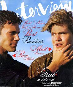 MATT DAMON AND BEN AFFLECK, DECEMBER 1997. PHOTO: BRUCE WEBER