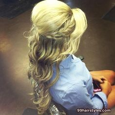 beautiful long blonde wavi hairstyle with braid - 99 Hairstyles Ideas