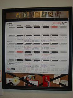 Family Calendar.  Love the large size.