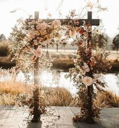 7 Wedding Arches That Will Instantly Upgrade Your Ceremony - fall flowers decorated wedding arch - Fall wedding ideas ceremony arch 7 Wedding Arches That Will Instantly Upgrade Your Ceremony Wedding Ceremony Ideas, Fall Wedding Arches, Fall Wedding Flowers, Fall Flowers, Wedding Trends, Wedding Colors, Bohemian Wedding Flowers, Bohemian Wedding Decorations, Wedding Ceremony Arch