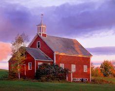 Red barn in New Hampshire.  Pure Americana. © Joseph Kayne
