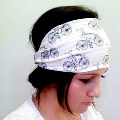 Girly Bicycle Biking Headwrap by Moxieandthreads on Etsy