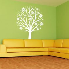 Nursery Tree with Flowers Wall Decal | Wall Decal World